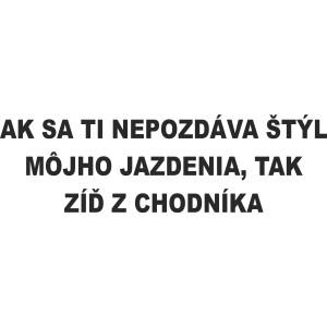 3603c3ba478 Vtipné nápisy 18 - Auto-samolepky.sk